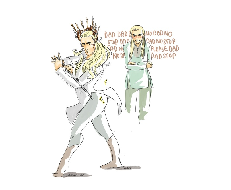 Humour : Thranduil &amp; Legolas 