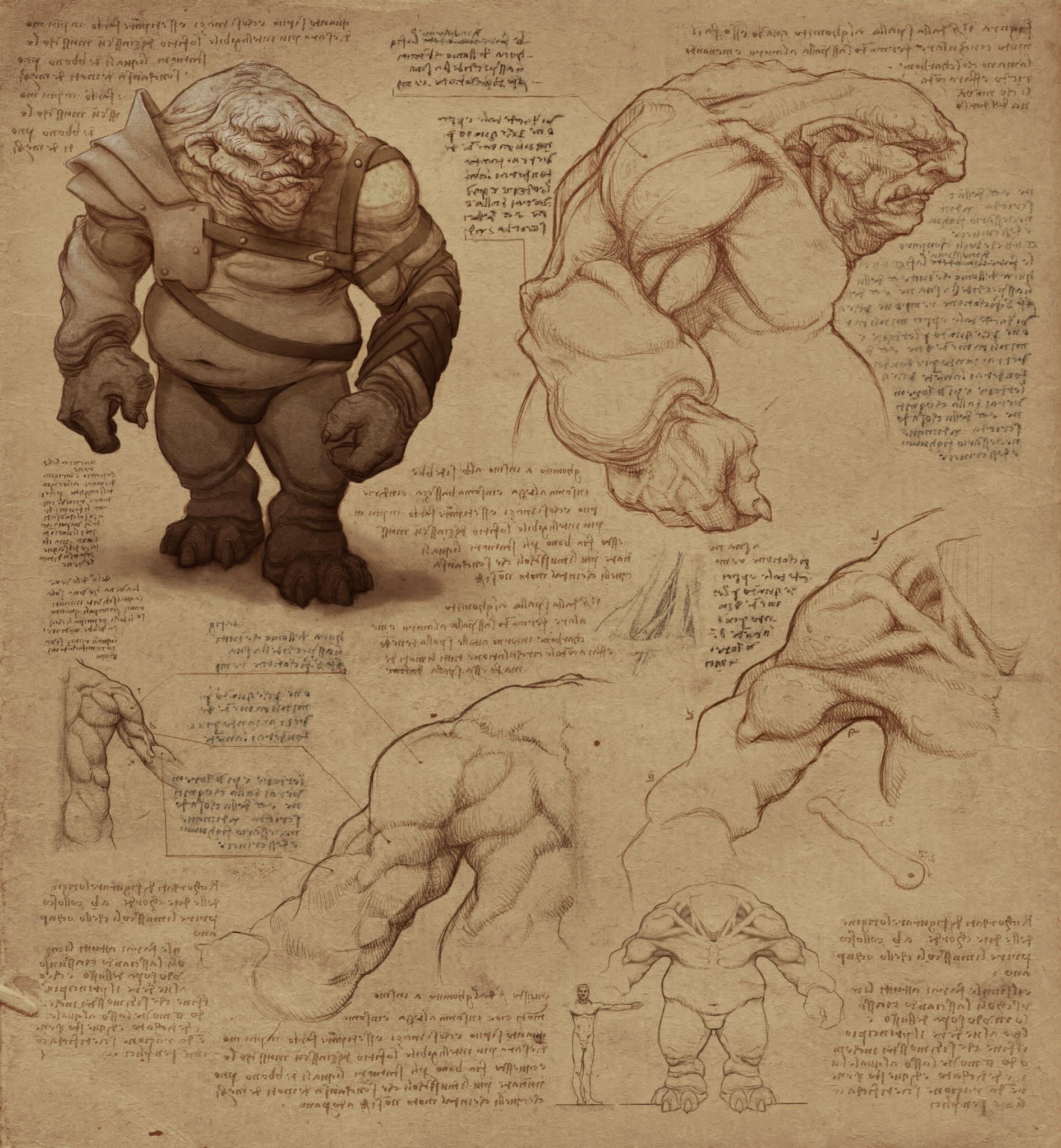 Les trolls (croquis)