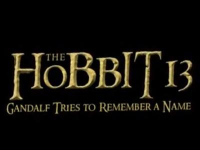 """Parodie : """"Le Hobbit"""" en dix-huit épisodes."""