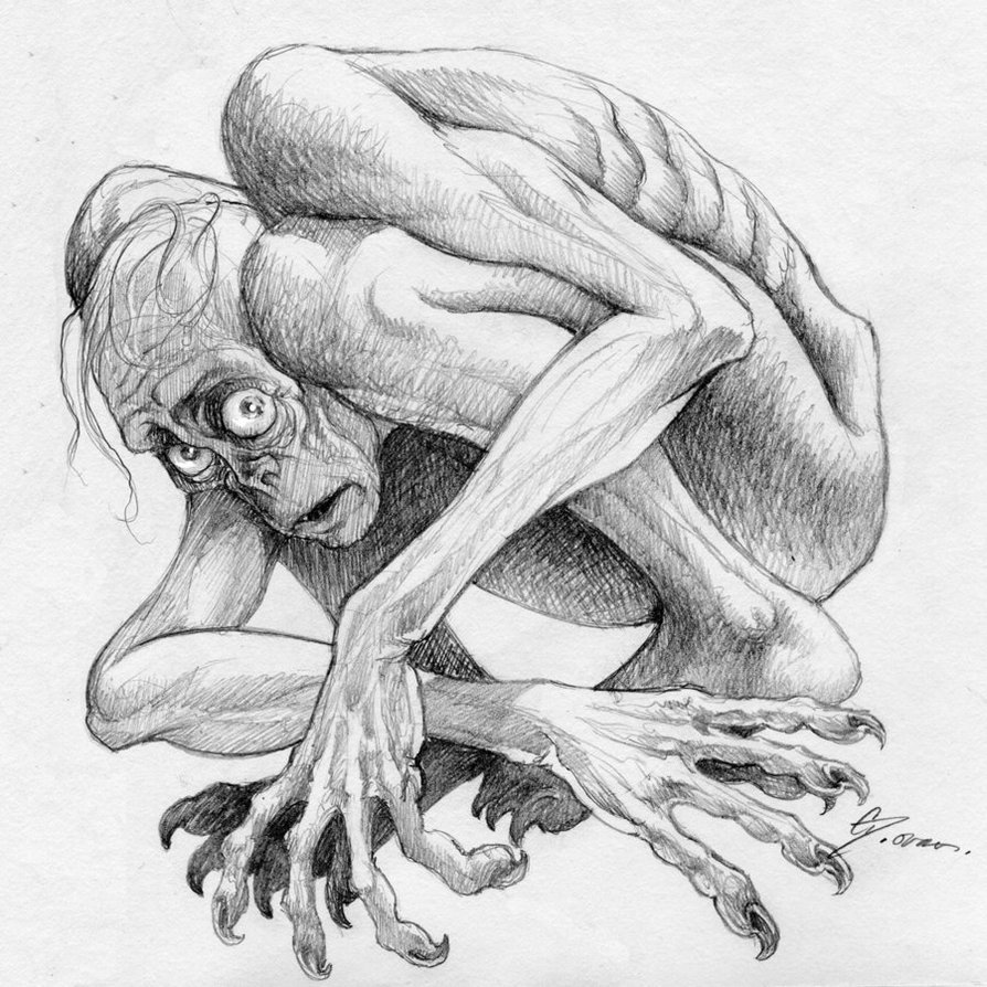 Gollum_Sketch_2_by_saulone