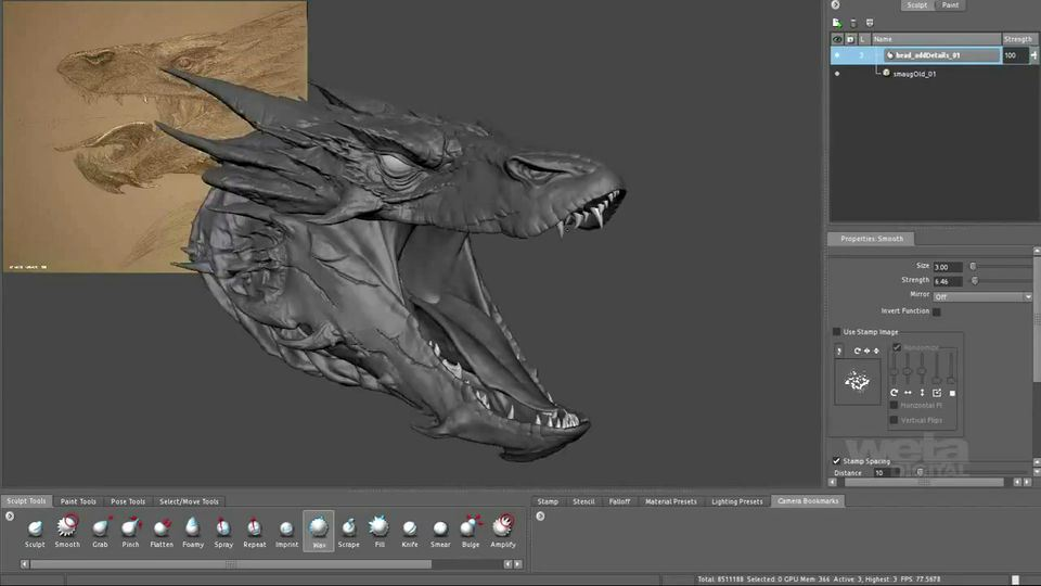 Making-of-Smaug-by-Weta-Digital-for-The-Hobbit-The-Desolation-of-Smaug-4