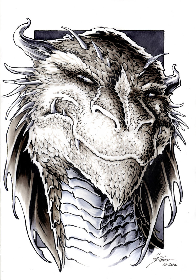 the_hobbit___smaug_portrait_by_danielgovar-d5i341r