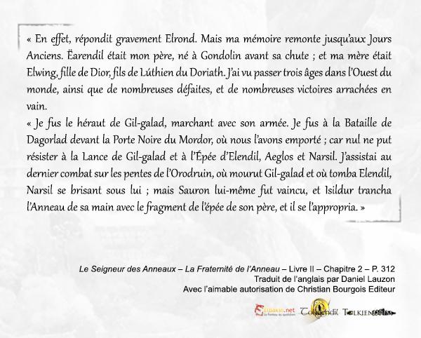 Extrait p.312 Elrond récit Orodruin