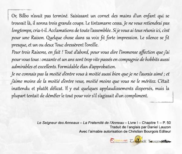 Extrait p.50 Discours Bilbo