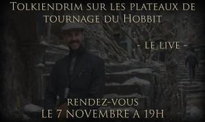 Live plateaux tournage du Hobbit