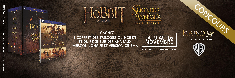Concours : gagnez des coffrets des trilogies du Hobbit et du SDA !