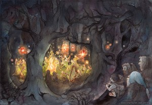 elvish_feast_in_mirkwood_by_ullakko-d70y4fl