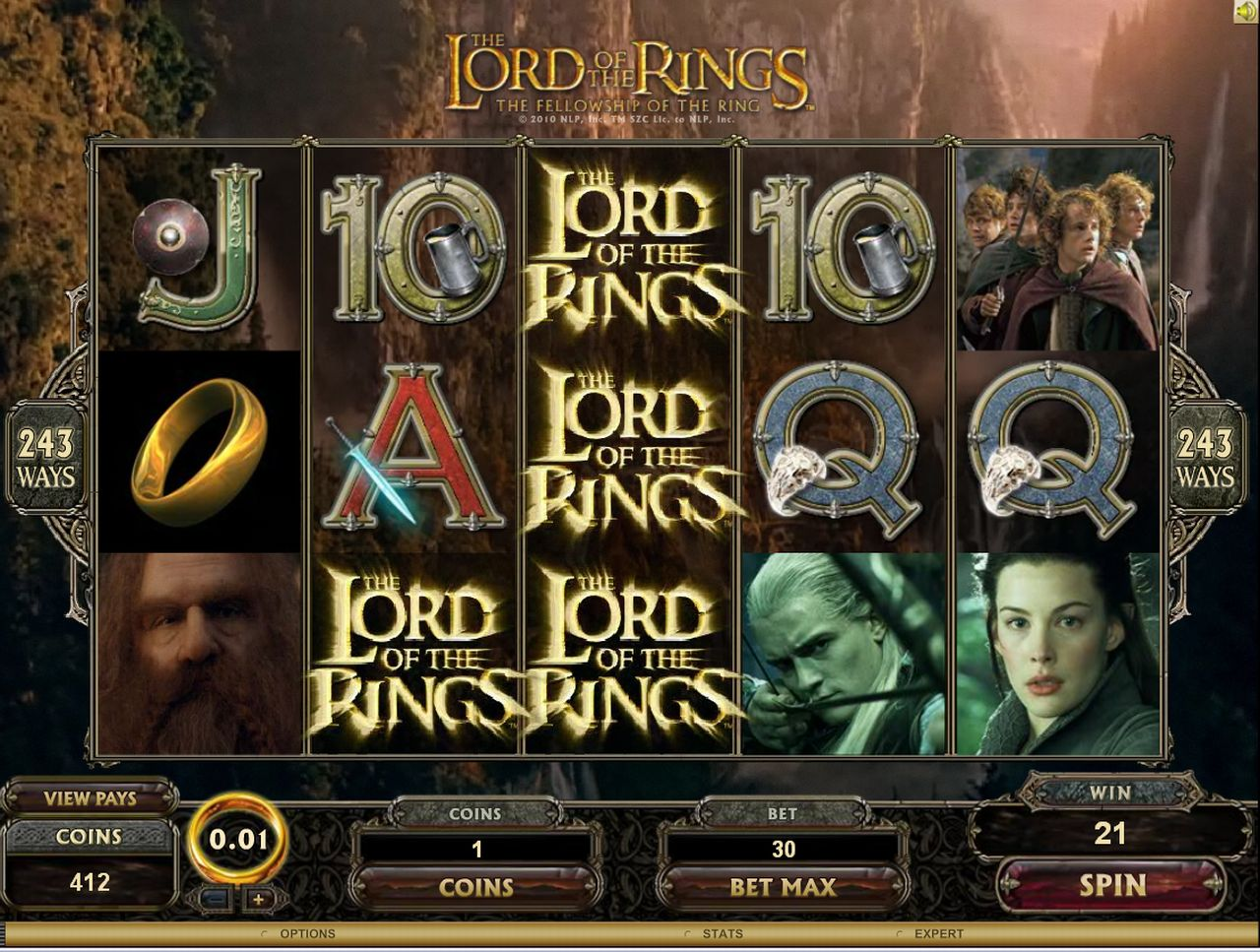 Lord of the rings slots free