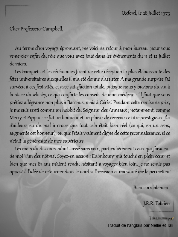 Traduction lettre