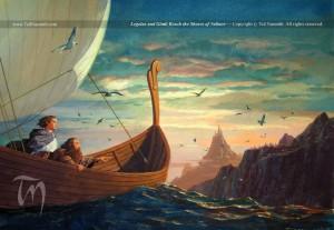 Legolas et Gimli près des côtes de Valinor