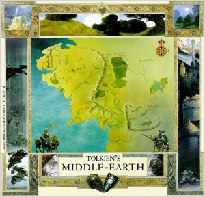 Carte de la Terre Du Milieu - John Howe